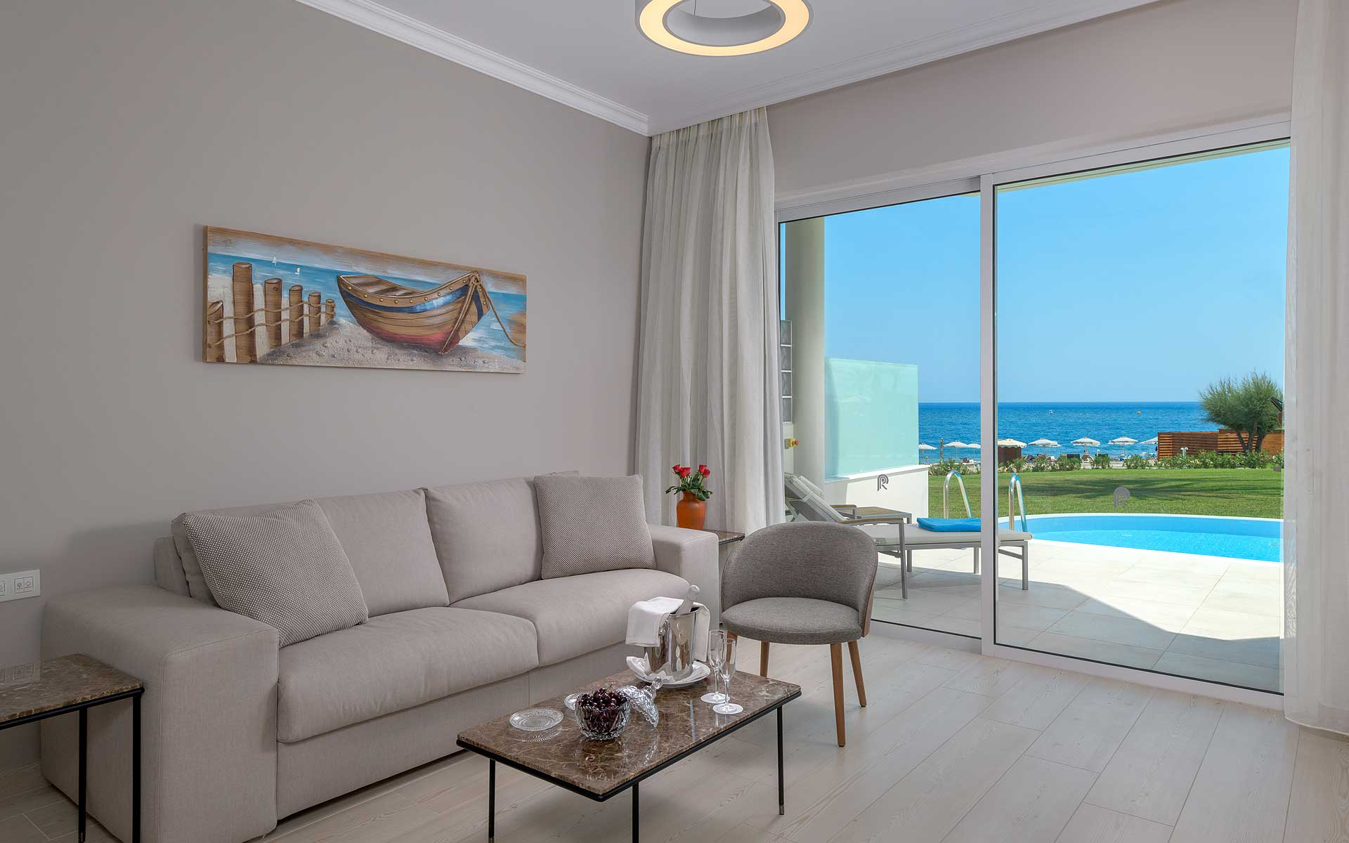 Executive Room with Private Pool - Living Area